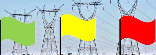 Bandeira vermelha para as tarifas de energia em janeiro