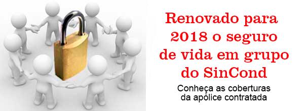 Renovado para 2018 o seguro de vida em grupo do SinCond